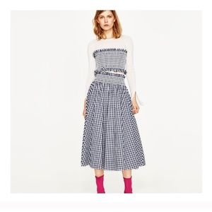 Zara gingham skirt and tube top